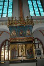 Madonnenaltar aus dem 15. Jahrhundert in der Johanniskirche