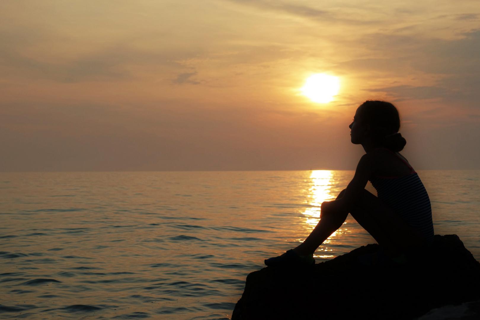 Mädchen am Meer Foto & Bild | kinder, kinder im schulalter