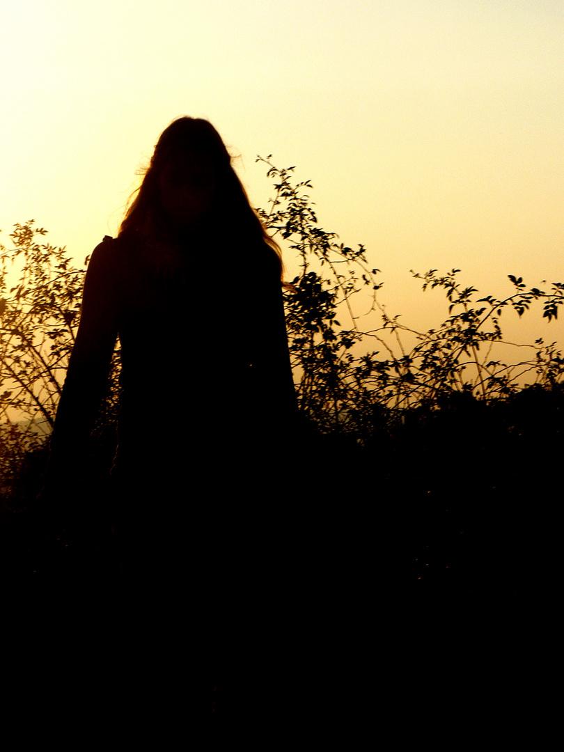 Mädchen im Licht