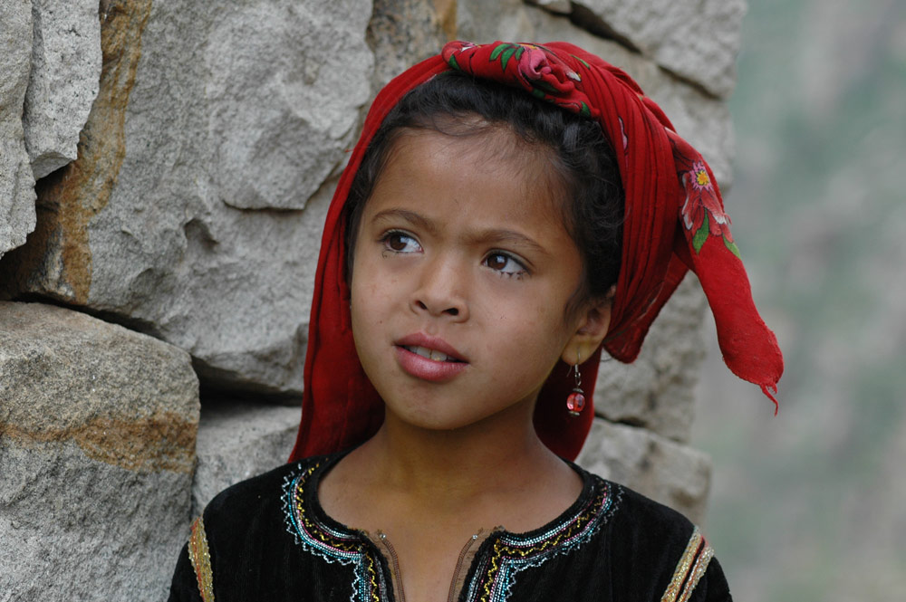Mädchen in den Burra-Mountains