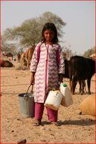 Mädchen in Rajastan