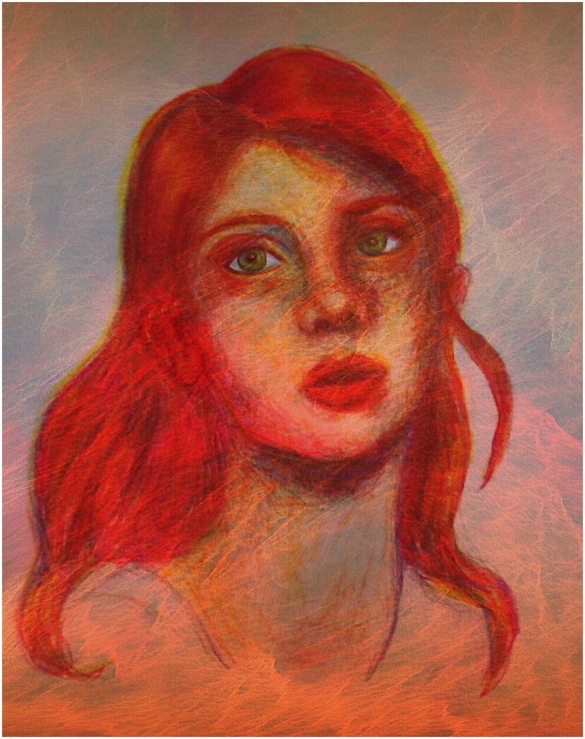 Kräftige Und Dominante Frau Mit Rotem Haar