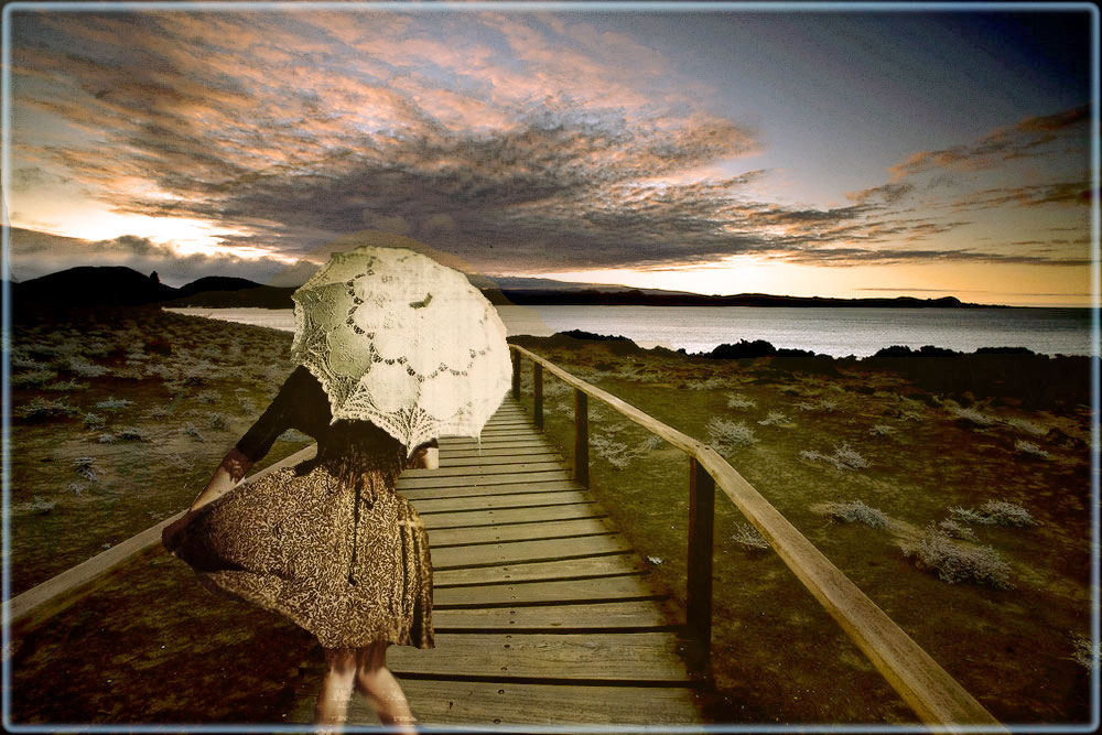 Mädchen Mit Schirm Foto Bild Fotomontage Composing Digiart