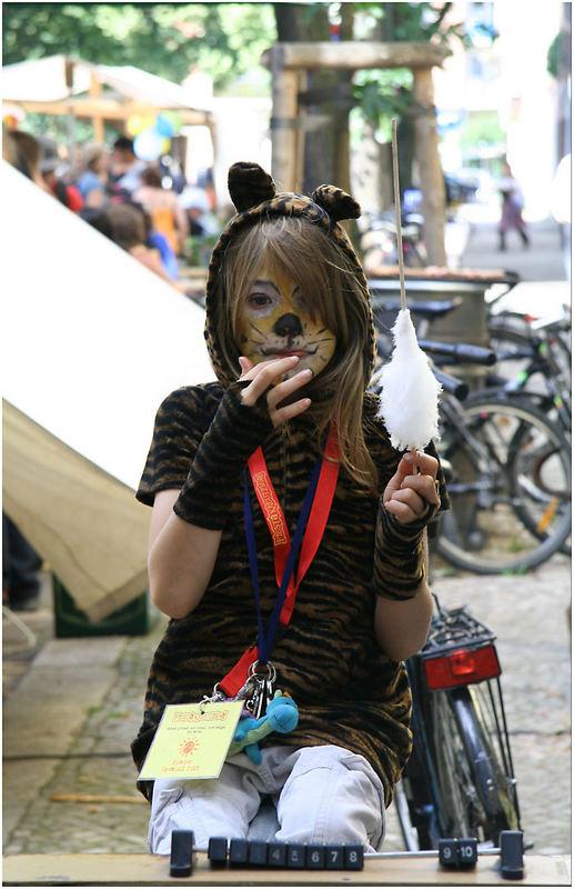 Mädchen, Straßenfest, Friedriechshain, Berlin