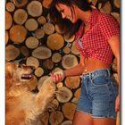 Mädchen und Hund