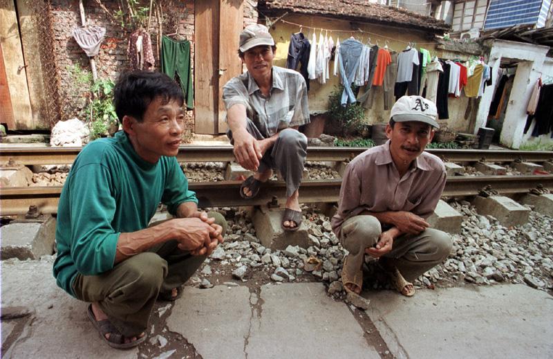 Männer an der Schien