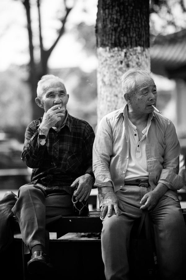 männer, rauchend