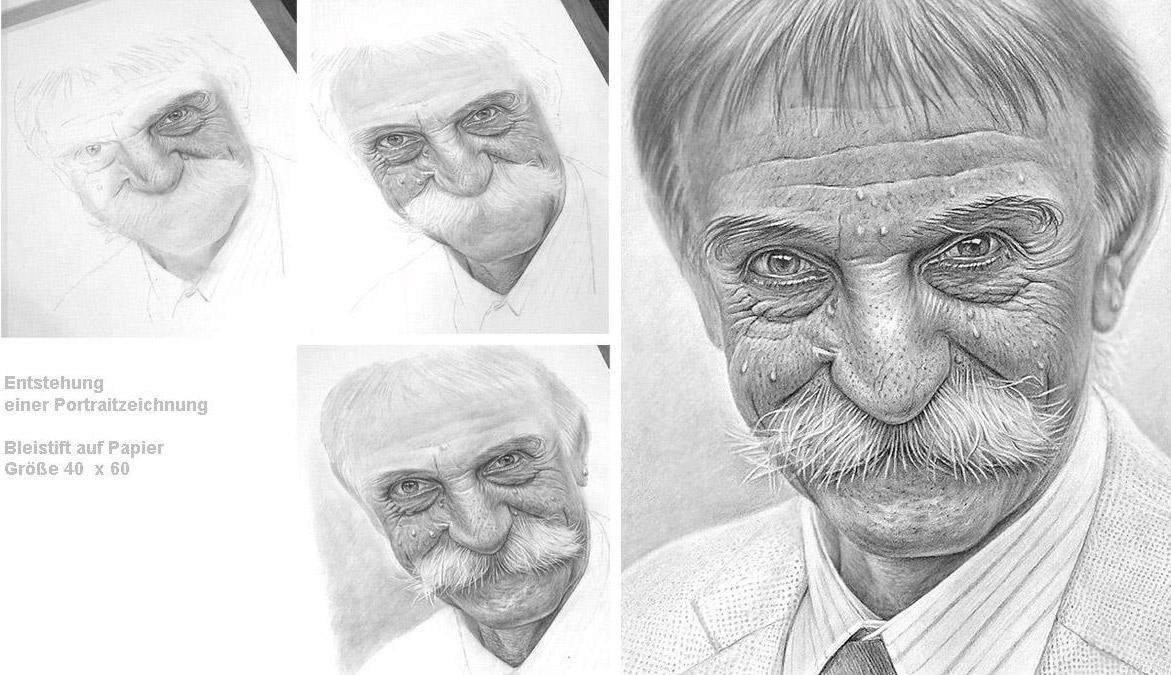 Männerportrait Details