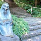 Märchenerzähler im Märchengarten des Blühenden Barocks in Ludwigsburg