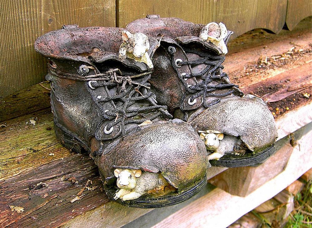 Mäuse Wohnung Foto Bild Stillleben Schuhe Figuren Bilder Auf