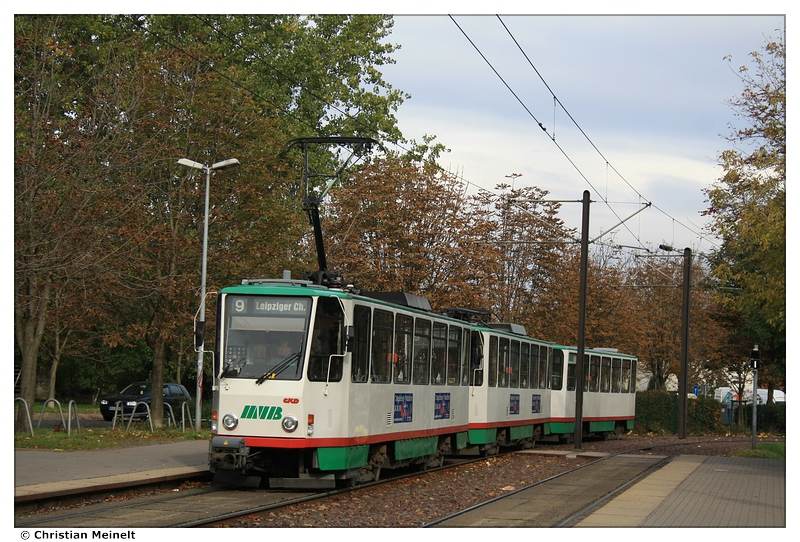 magdeburg t6a2 gro zug auf linie 9 foto bild bus nahverkehr stra enbahnen verkehr. Black Bedroom Furniture Sets. Home Design Ideas