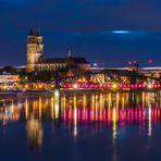 Magdeburger Dom und Hubbrücke
