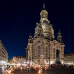 Magic in front of the Dresden Frauenkirche