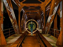 magic of light on the railway bridge