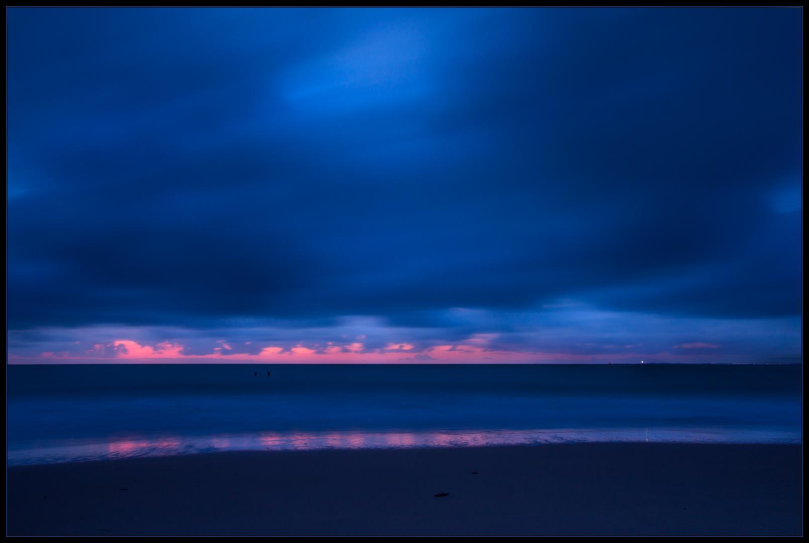 Magische Momente nachts am Meer... (Langzeit-Aufnahme)