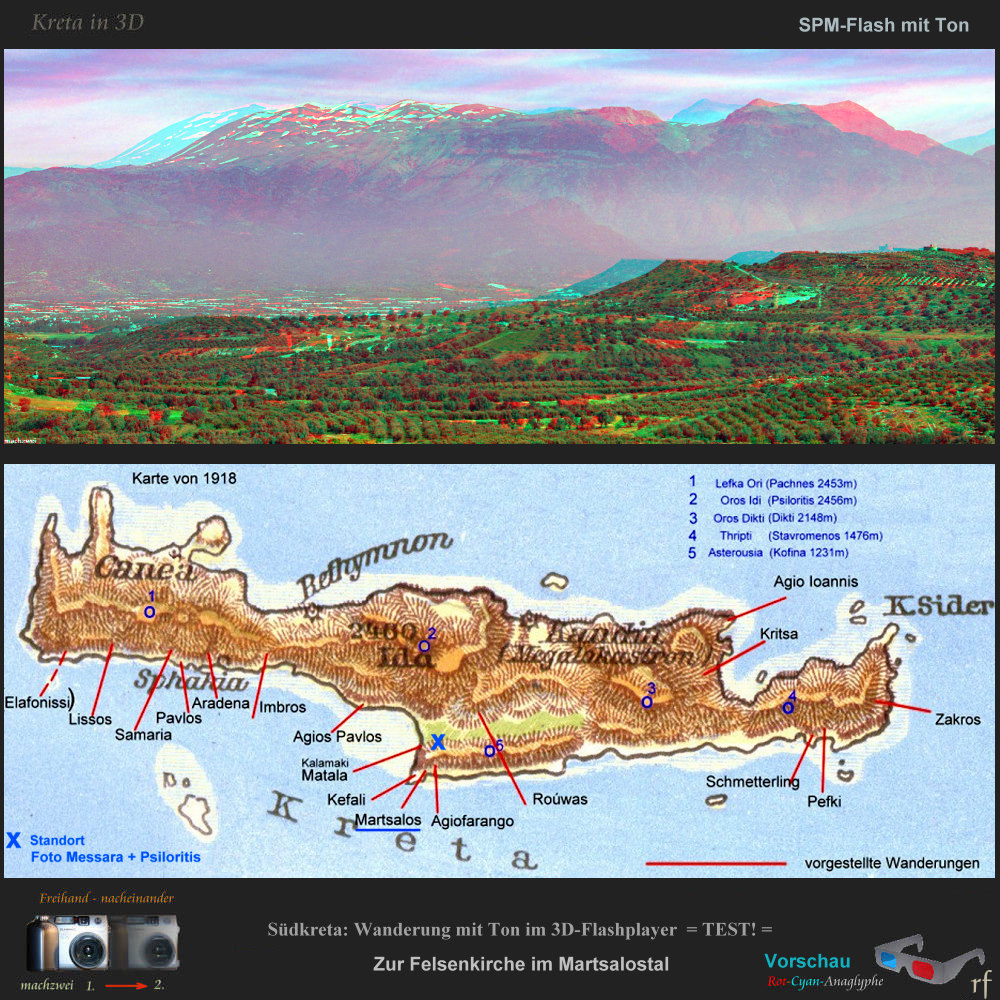 Magix 3D-Diaschau mit individuell gesteuerten Kamerafahrten - Kreta Südküste