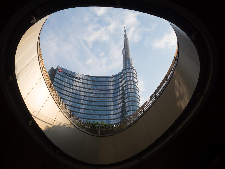 Mailand Blick auf die UniCredit