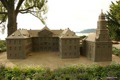 Mainau-Schloss und Schlosskirche aus Sand