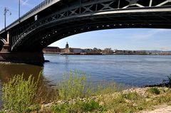 Mainz - unter der Theodor Heuss Brücke