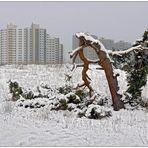 Mainzer-Sand im Schnee.