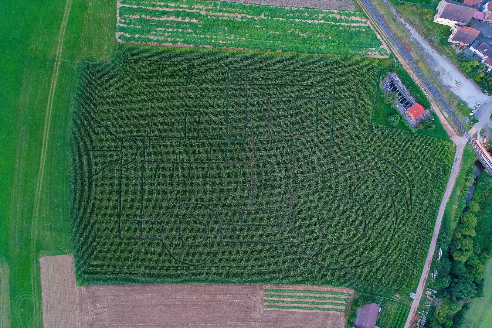 Maisfeldlabyrinth Bayern