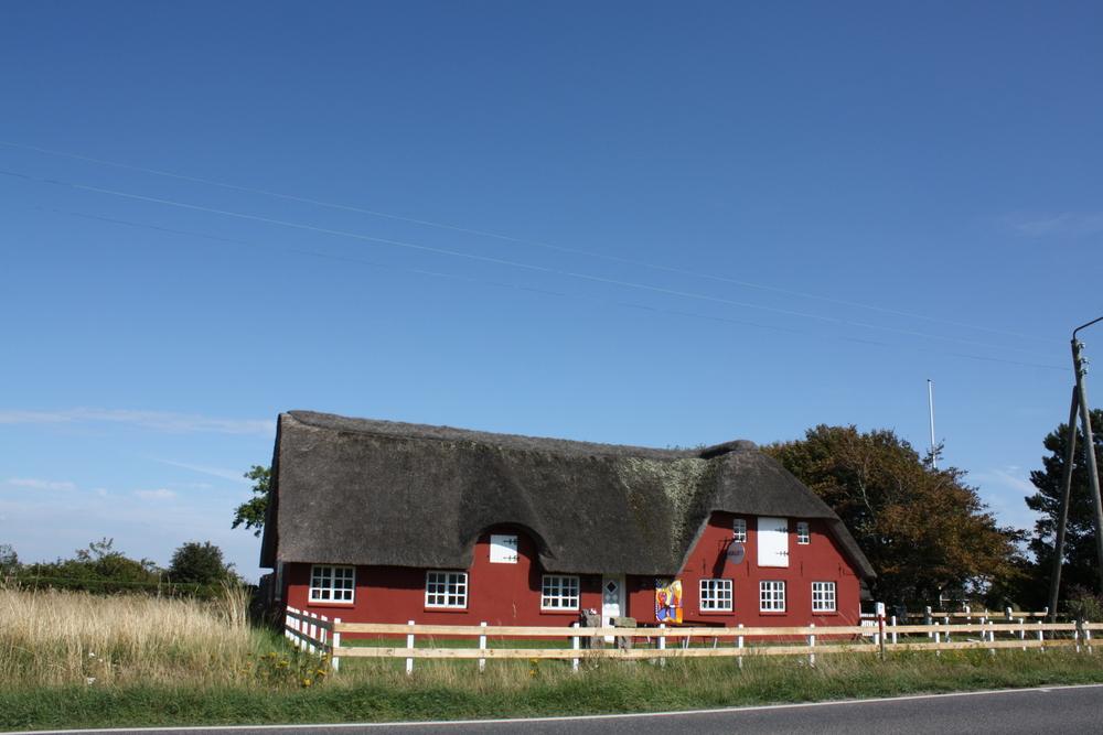 maison au toit de chaume sur l 39 le romo au danemark photo et image paysages paysages de. Black Bedroom Furniture Sets. Home Design Ideas