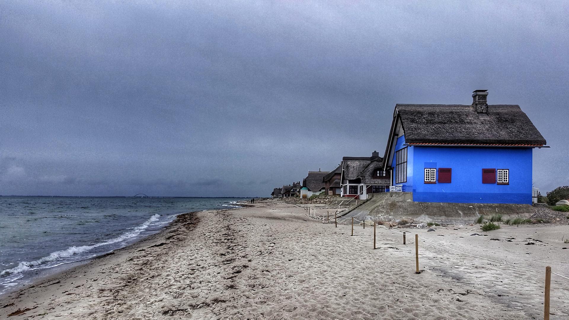 maison de plage bleue