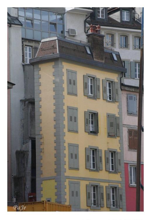 Maison très étroite