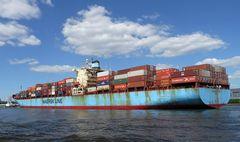 Majestic Maersk von achtern