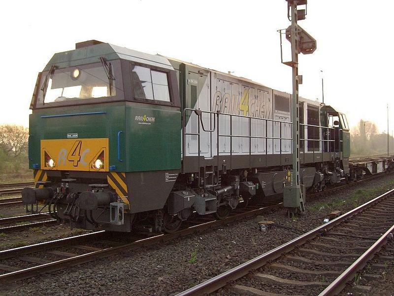 MAK Vossloh G 2000 der Rail4Chem im Bf. Viersen