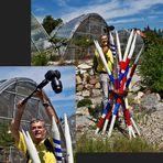 """Making-of von Kurt beim Fotografieren der Skulptur """"Mikadostrauß"""" von Renate Polzer!"""