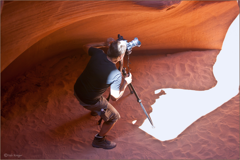 Making off: Antelope Canyon