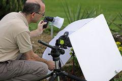 Makro-Fotografie-Aufbau bei Workshop