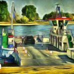 mal anders, eine bunte Rheinfähre
