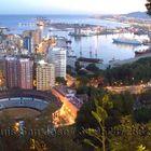 Málaga al anochecer.
