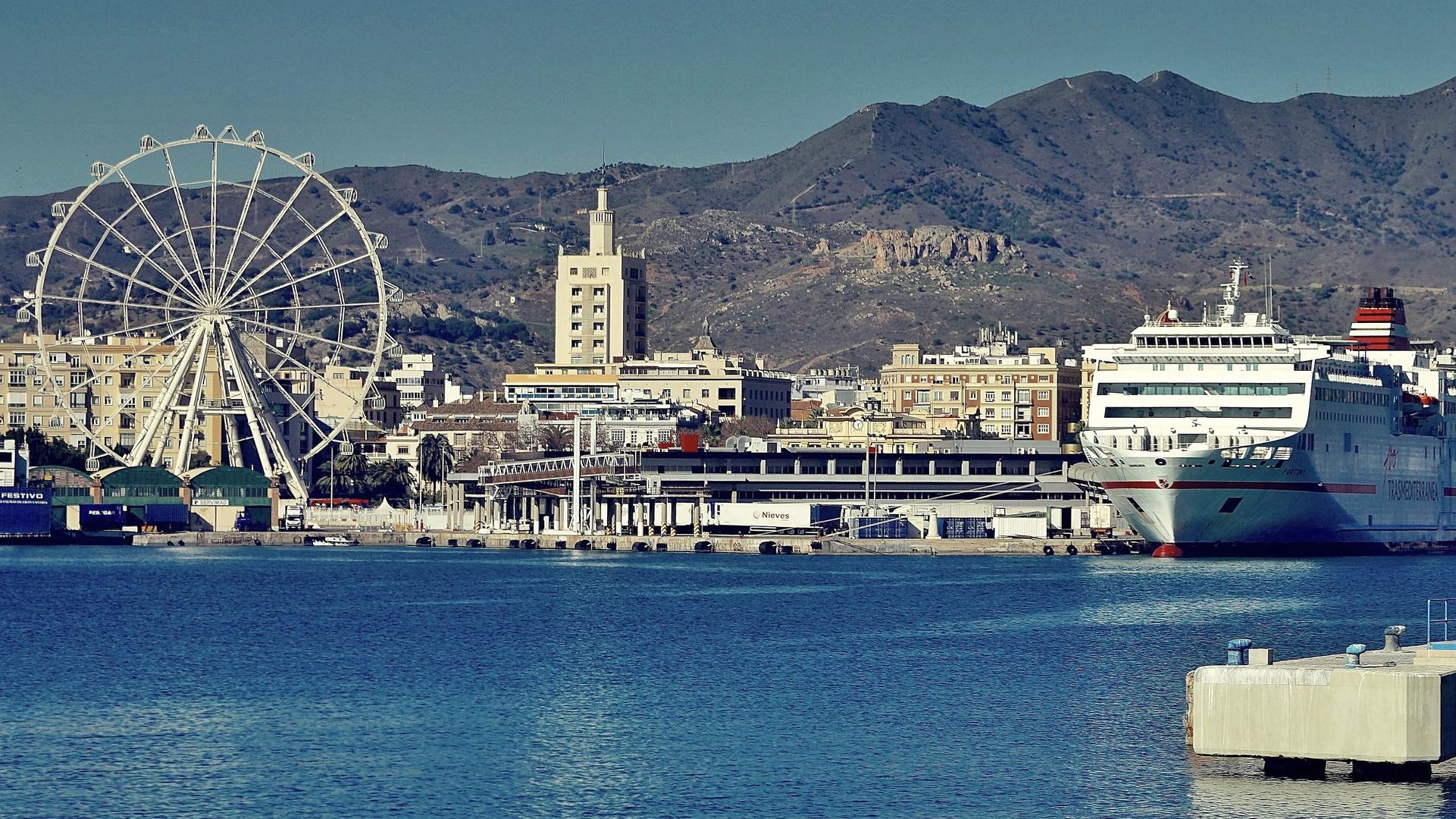 Málaga ciudad de mar y montaña: Puerto y Monte Coronado