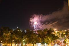 Málaga-Feuerwerk...