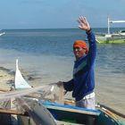 Malapascua Island, Cebu. Fisherman smiling cause good catch