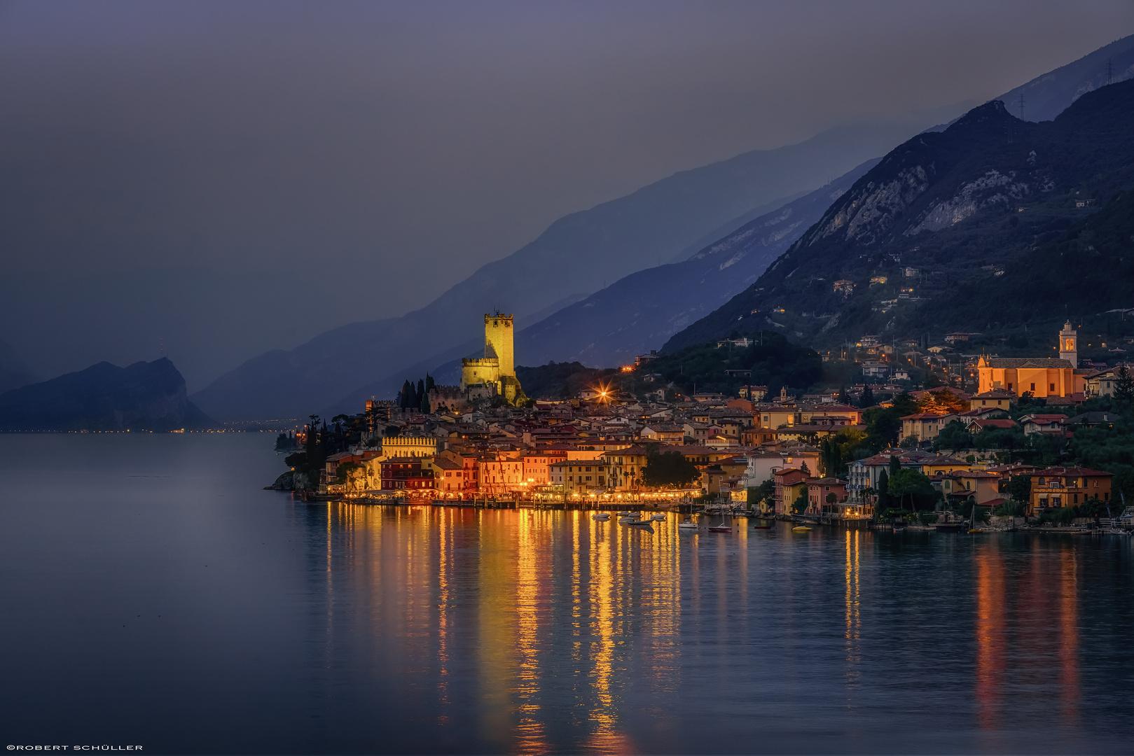 Malcesine: eine hübsche kleine mittelalterliche Stadt.