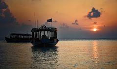 Malediven - kurz vor Sonnenuntergang -