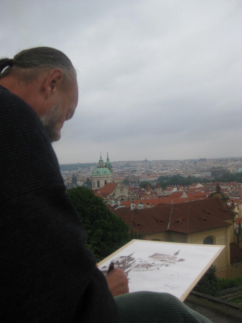 Maler in Prag