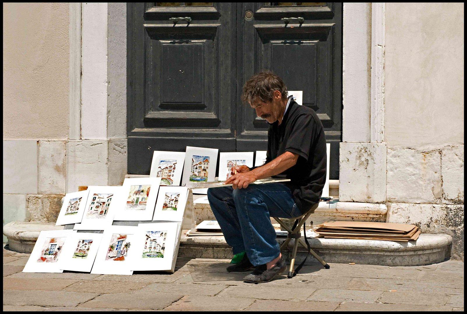 maler k nstler foto bild erwachsene menschen bei der arbeit handwerker bilder auf. Black Bedroom Furniture Sets. Home Design Ideas