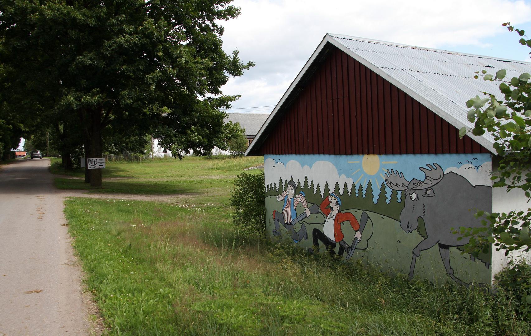 Malerei am Wegesrand