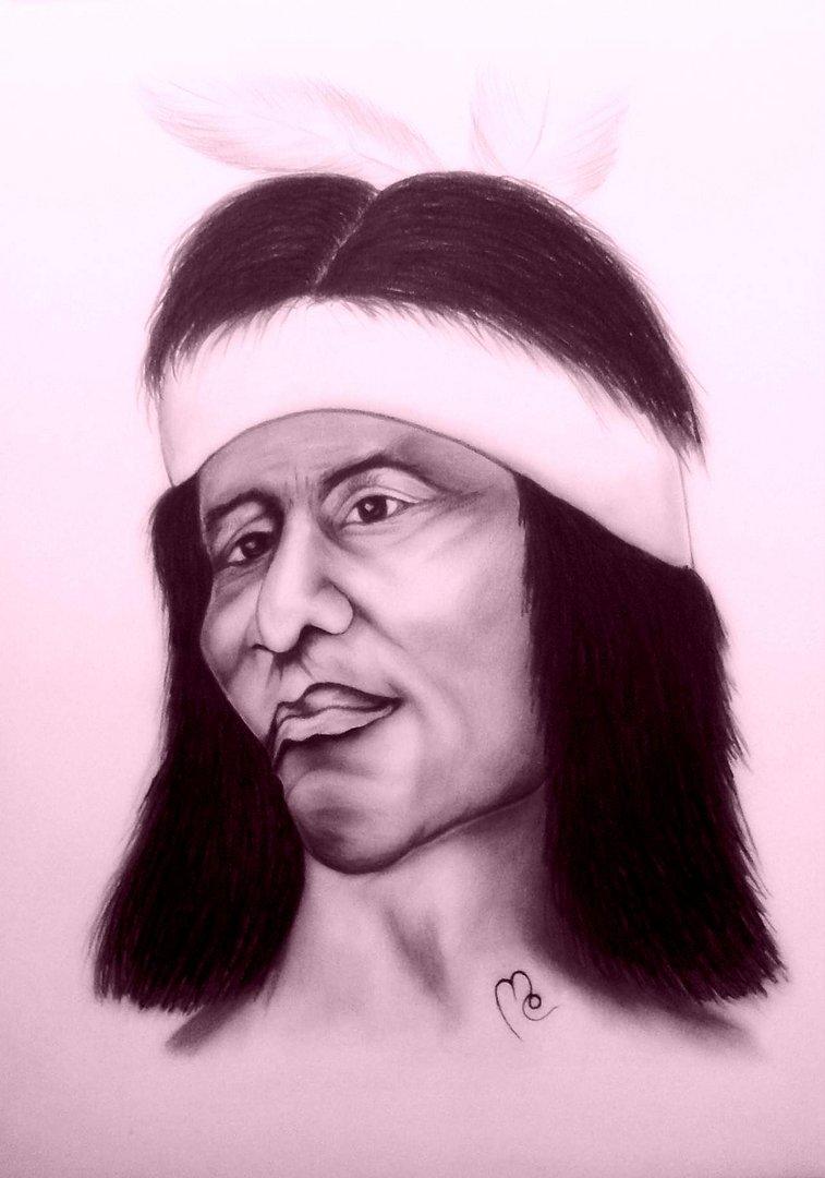 Malerei - Zeichnungen: Tittle: Indian Man