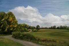 Malerische Landschaft (2. Variante)