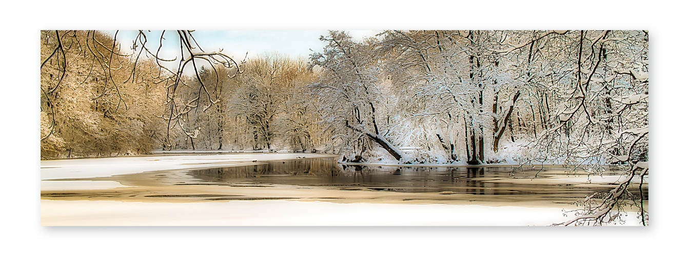 Malerische Winterszene