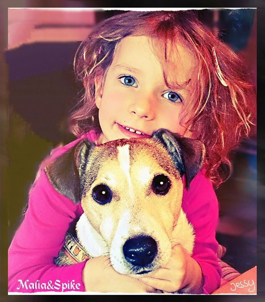 Malia mit Hund Spike