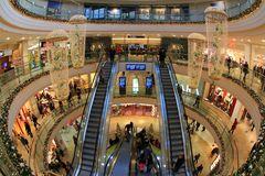Mall zur Weihnachtszeit