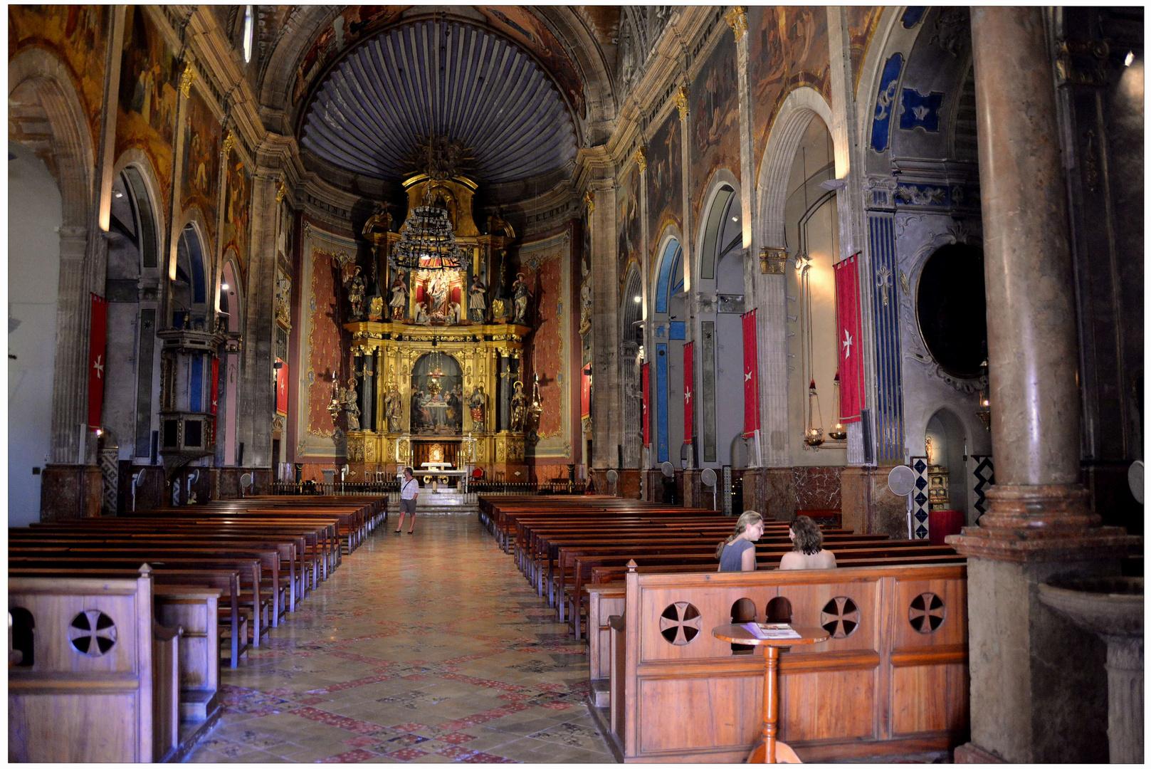 Mallorca 2012, Pollenca, iglesia, interior