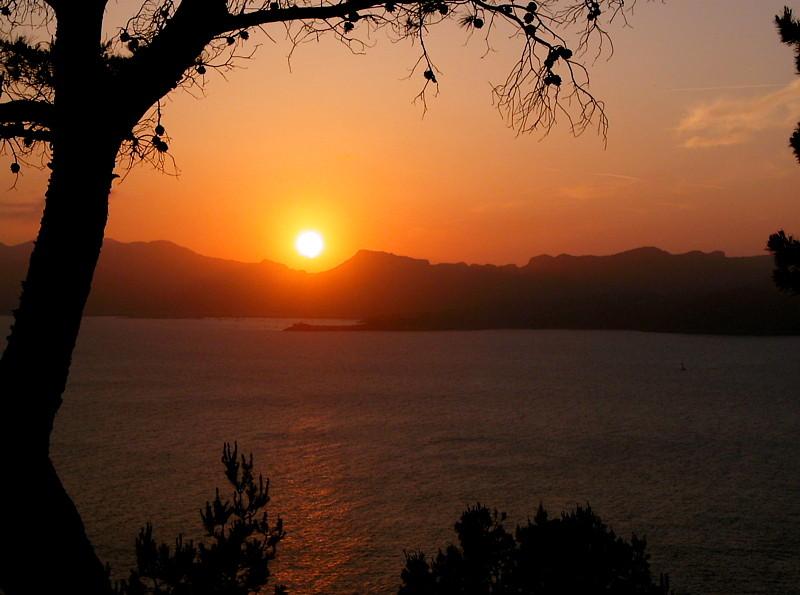 Mallorca Sonnenuntergang über der Bucht von Alcudia